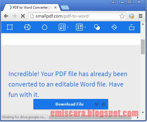 Cara Mudah Merubah PDF ke MS Word