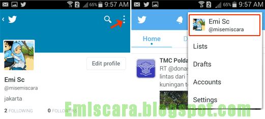 Mengganti Foto Twitter Android