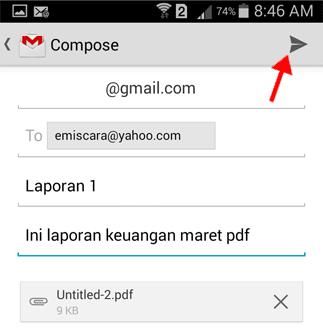 Mengirim Email Lewat Gmail di HP Android