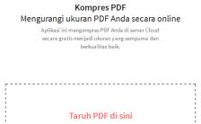 Tips Cara Memperkecil Ukuran File PDF Online