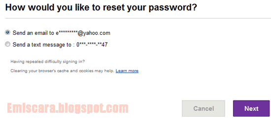 Cara Reset Password Email Yahoo