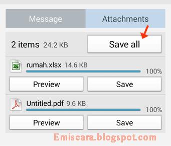 Cara Mengambil File Lampiran di Email Yahoo Pada HP Android