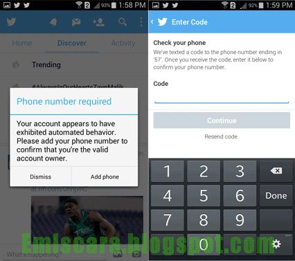Membuat akun Twitter di HP Android