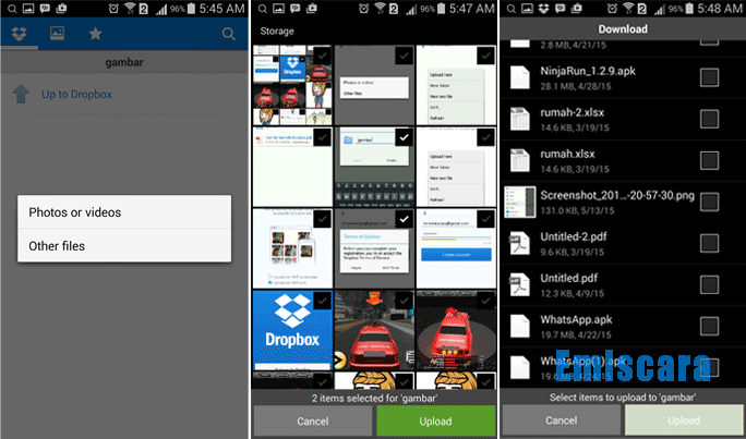 Cara Upload File ke DropBox Dari Android