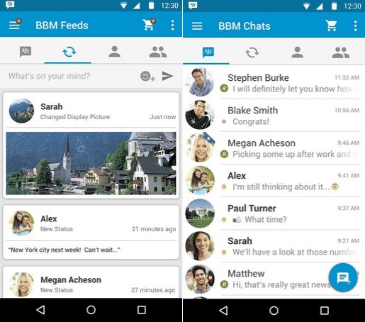 Update Terbaru BBM Untuk Android, iOS dan BB 10 Dengan Material Design dan Perubahan Tampilan
