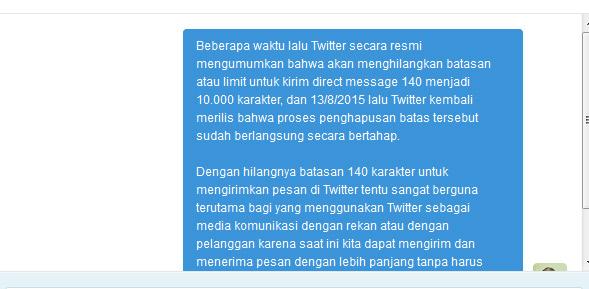 Fitur Direct Message (DM) Twitter Sudah Bisa Lebih Dari 140 Karakter