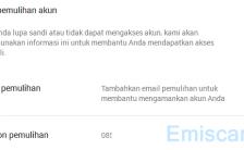 Cara Menambahkan, Edit Email dan Telepon Pemulihan di Gmail