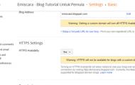 Cara Mengaktifkan HTTPS di Blogspot Gratis Dari Google