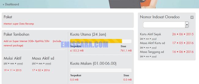 Cara Masa Aktif, Sisa Cek Kuota Indosat Via Web (Online)