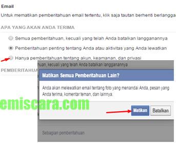 Ada Cara Menonaktifkan Pemberitahuan Facebook ke Email
