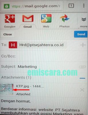 Cara Mengirim Lamaran Kerja Via Email Lewat HP