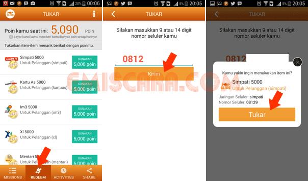 Mencari Pulsa Gratis Lewat Android Dengan Aplikasi PopSlide – Sudah 4x Tukar Poin