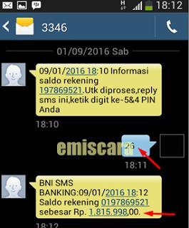 Tips Memakai SMS Banking – BNI