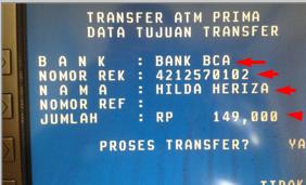 Gunakan Kode 014 Cara Transfer BRI ke BCA Lewat ATM