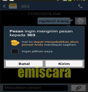 Cara Ngobrol Siang IM3 Kirim SMS ke 303