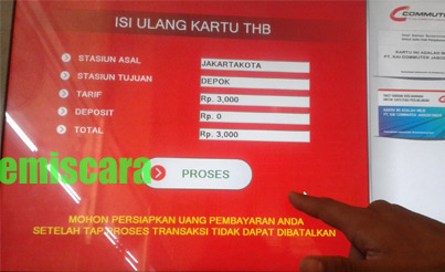 Cara Isi Ulang THB Commuter Line di Commuter Vending Machine