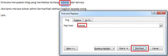 Cara Mencari Kata di MS Word 2007 Untuk Diedit