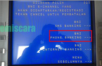Mudahnya Cara Daftar Phone Banking BNI dari ATM