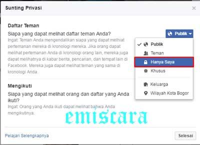 Ini Cara Agar Daftar Teman di Facebook Tidak Terlihat Orang Lain