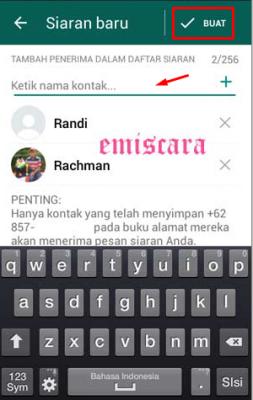 cara kirim broadcast di whatsapp