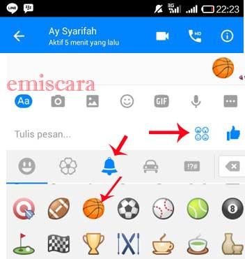 Iseng Iseng Maen Basket di facebook Messenger Yu