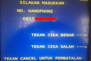Cara Isi Pulsa HP di ATM BNI - Indosat Oredoo