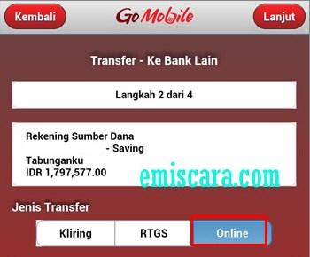 Cara Transfer Dari CIMB Niaga ke BCA Via Go Mobile CIMB