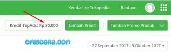 Cara Mengisi Top Ads Tokopedia Supaya Omzet Toko Naik