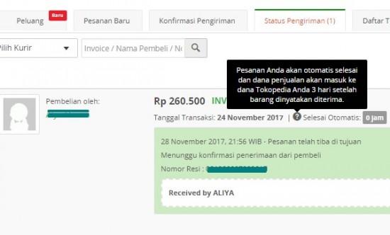 Bagaimana Jika Pembeli Tidak Konfirmasi Penerimaan Barang di Tokopedia