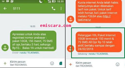 Lumayan Registrasi Kartu Telkomsel Dapat Gratis Kuota 10GBLumayan Registrasi Kartu Telkomsel Dapat Gratis Kuota 10GB