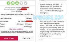 Coba Menghubungi Pihak JNE Pusat Lewat Telepon Karena Paket Belum Diterima
