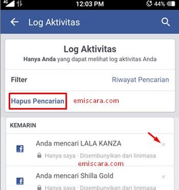 Cara Hapus Riwayat Pencarian Orang di Facebook Lewat HP