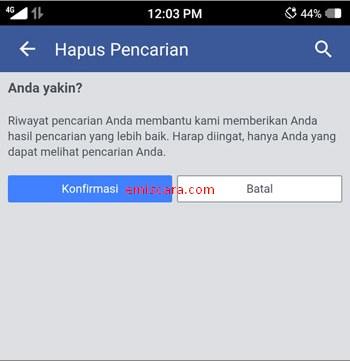 Cara Hapus Riwayat Pencarian Orang di Facebook Lewat HPCara Hapus Riwayat Pencarian Orang di Facebook Lewat HP