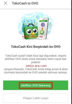 Memindahkan TokoCash Menjadi OVO Tokopedia Dilengkapi Gambar