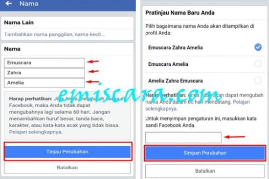 Cara Mengubah Nama di facebook Lewat Handphone/Android