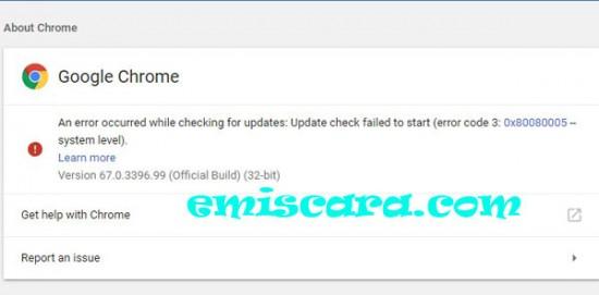 Pengalaman Gagal Update Chrome di PC