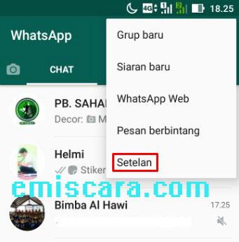 Cara Agar Gambar dan Video Tidak Tersimpan Ke Galeri WhatsApp